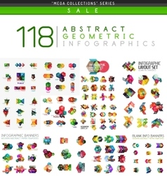 Mega collection of infographics vector