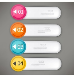Set of colorful bookmarks stickers labels tags vector image vector image
