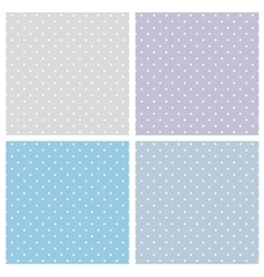 Tile blue pattern set with polka dots vector image vector image