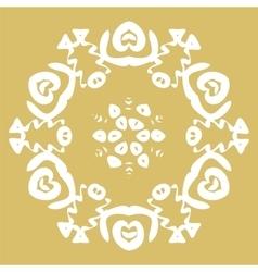 Winter card snowflake pattern vector image