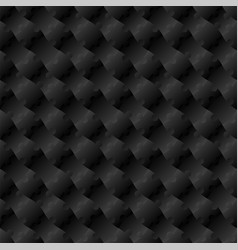 3d jigsaw tile seamless pattern black 002 vector image