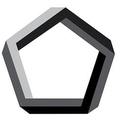 3d pentagon vector