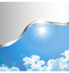 Abstract background with sky vector image