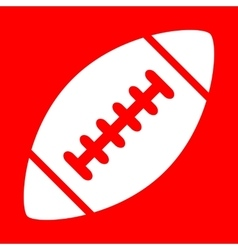 American simple football ball vector image