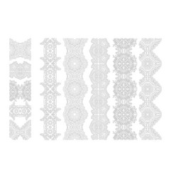 Art for coloring book with ornate paint brushes vector