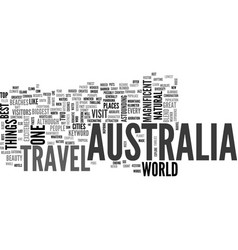 Australia travel text word cloud concept vector