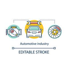 Automotive industry concept icon development vector