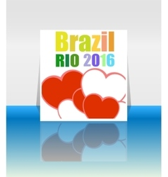 Background colors with the inscription Brazil Rio vector image