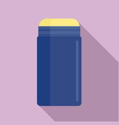 Blue deodorant icon flat style vector