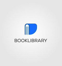 book library logo store design vector image