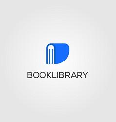 Book library logo store design vector