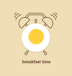 breakfast time with eggs vector image