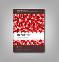 Brochures book with red triangles template vector