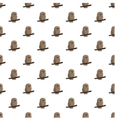 brown owl pattern seamless vector image