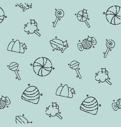 Candy concept icons pattern vector