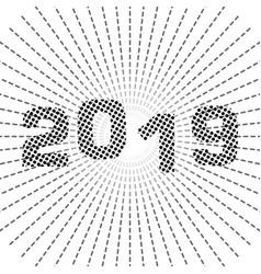 cartoon cute 2019 year vector image