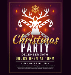 christmas invitation holiday new year party vector image
