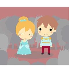 Cinderella and prince vector