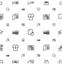 college icons pattern seamless white background vector image