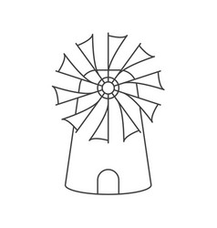 contour of the mill vector image