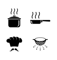 cooking simple related icons vector image vector image
