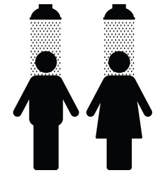 Couple icon in shower vector