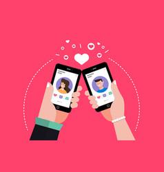 Dating online application vector