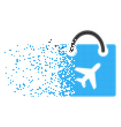 duty free shopping decomposed pixel icon vector image