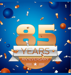 eighty five years anniversary celebration design vector image