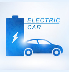 electric car and electrical charging station vector image