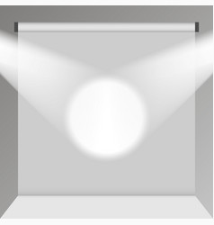 empty white photo studio backdrop realistic vector image