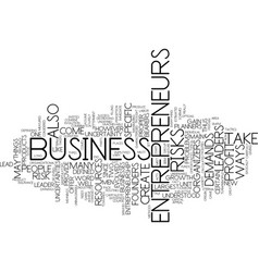entrepreneurs text background word cloud concept vector image