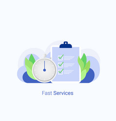 fast service concept vector image