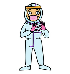 female medical specialist in protective clothing vector image