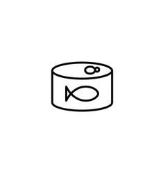 fish can icon vector image