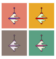 Flat icon design collection rotating whirligig vector