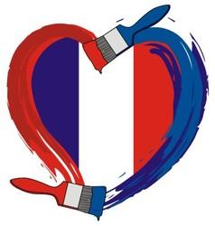 France ngrunge flag brush vector