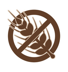 gluten free food vector image