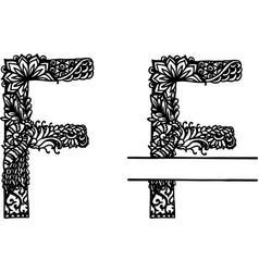 Handdrawn letter f vector