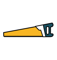 handsaw construction tool isolated icon vector image vector image