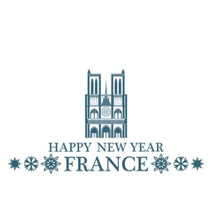Happy New Year France vector image