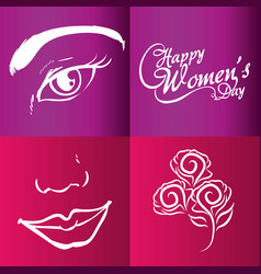 Happy womens day brochure vector
