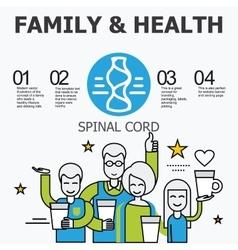 Internal organs - spinal cord vector