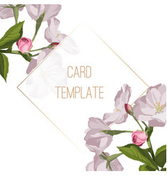 Invitation cards with beautiful cherry blossom vector