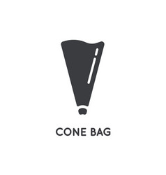 kitchen cooking cone bag for cream element glyph vector image