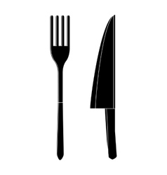 Knife and fork icon simple style vector image
