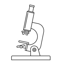 laboratory microscope icon outline style vector image