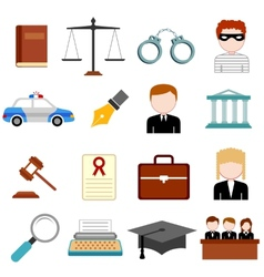 Law and Justice icon vector