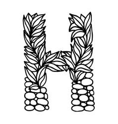 Letter alphabet h vector
