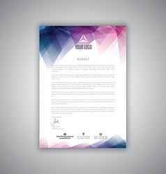 letterhead template 2406 vector image